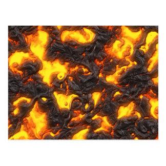 Lava caliente tarjetas postales