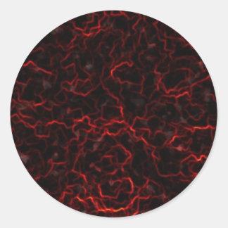 Lava Classic Round Sticker