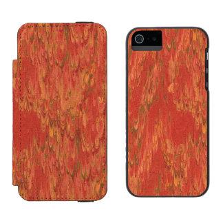 Lava coralina funda billetera para iPhone 5 watson