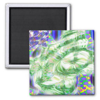 lava dreams nuclear abstract art 2 inch square magnet
