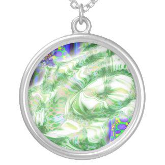 lava dreams nuclear abstract art custom necklace