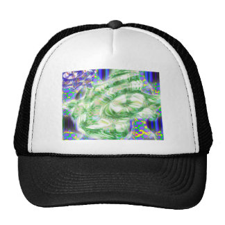 lava dreams nuclear abstract art hat