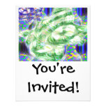 lava dreams nuclear abstract art personalized announcement