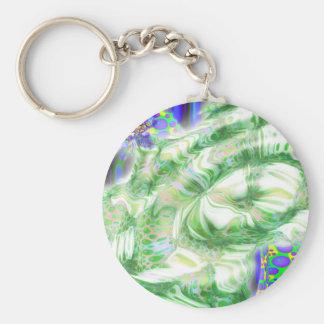 lava dreams nuclear abstract art keychain
