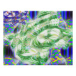 lava dreams nuclear abstract art poster