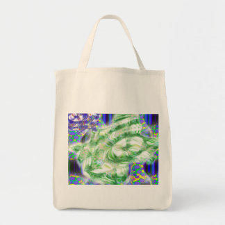 lava dreams nuclear abstract art tote bags
