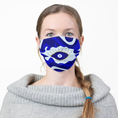 Lava Evil Eye Cloth Face Mask