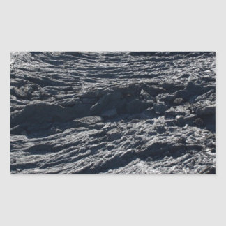 Lava field rectangular sticker