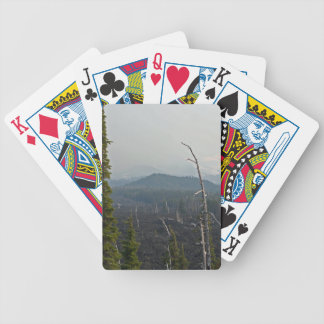 Lava Fields and panoramic  at McKenzie Pass Oregon Deck Of Cards