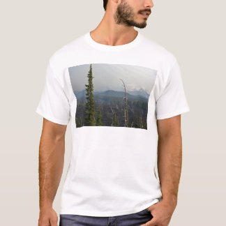 Lava Fields and panoramic  at McKenzie Pass Oregon T-Shirt
