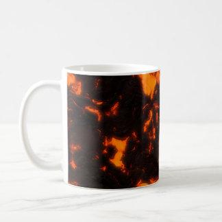 Lava Flow Bright Orange & Black Volcanic Coffee Mug