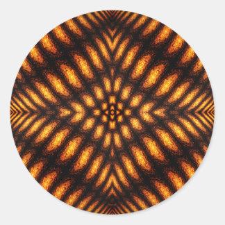 Lava Flow Pattern Classic Round Sticker