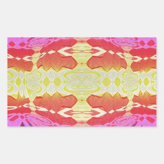 Lava Flow Rectangular Sticker