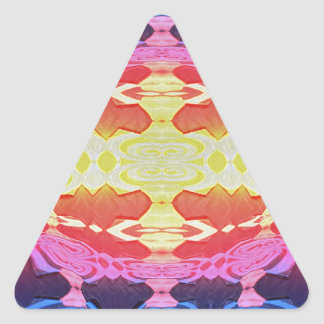 Lava Flow Triangle Sticker