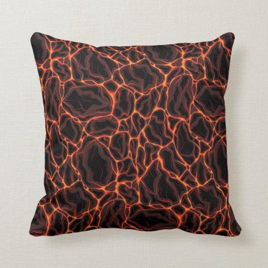 Lava flows  throw pillow
