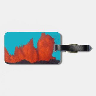 Lava Fountain Luggage Tag