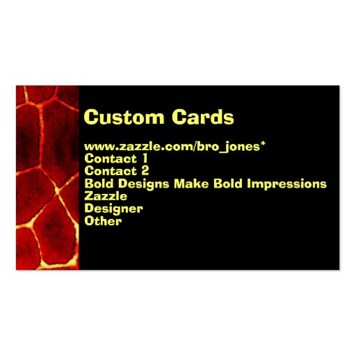 Lava Glow Business Card