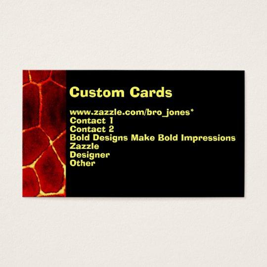 Lava Glow Business Card