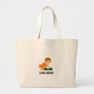 lava head woman large tote bag