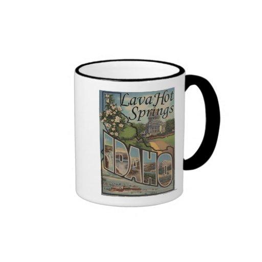 Lava Hot Springs, Idaho - Large Letter Scenes Coffee Mug