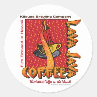 Lava Java Hawaiian Coffee Classic Round Sticker