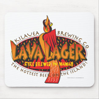 Lava Lager Hawaiian Beer Mouse Pad