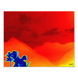Lava Lamp Sky Photo Print
