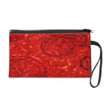 Lava Party abstract red pattern by Valxart.com Wristlet