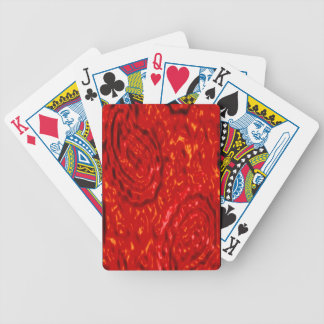 Lava Party abstract red pattern by Valxart.com Poker Deck