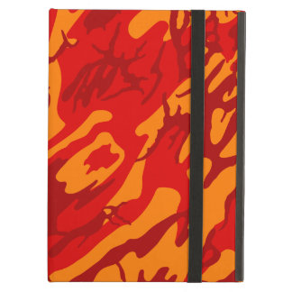 Lava Red Camo Case For iPad Air