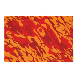 Lava Red Camo Placemat