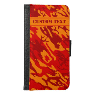 Lava Red Camo Smartphone Wallet w/ Text