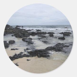 Lava Rock Beach Classic Round Sticker