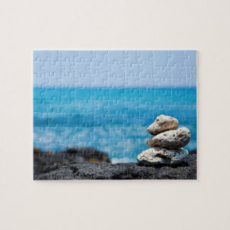 Lava Rock Coral Hawaii Ocean Tropical Beach Blank Jigsaw Puzzle