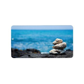 Lava Rock Coral Hawaii Ocean Tropical Beach Blank Personalized Address Labels