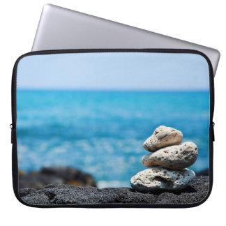 Lava Rock Coral Hawaii Ocean Tropical Beach Blank Laptop Sleeve