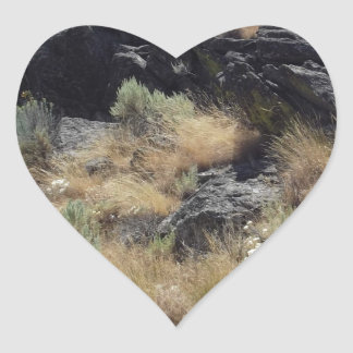 Lava Rock Heart Stickers