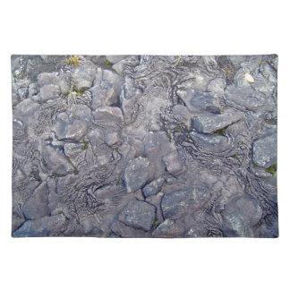 Lava Rock Surface Place Mats