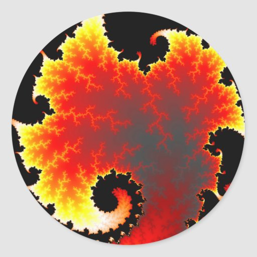 Lava Sea - Fractal Sticker