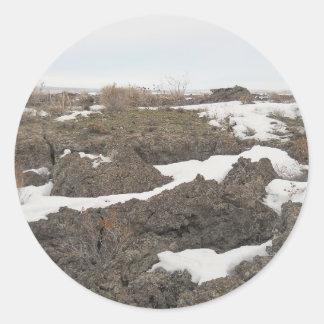 Lava / Snow in Idaho Classic Round Sticker