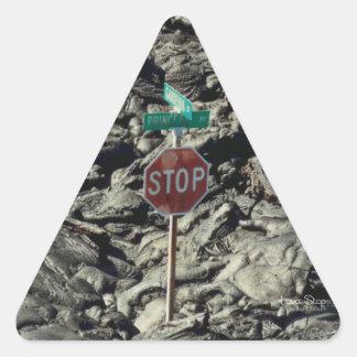 Lava Stop Photo Triangle Sticker