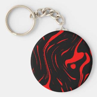 lava swirl basic round button keychain