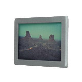 Lava Themed, Hidden Lava Path Scenery In The Middl Rectangular Belt Buckles