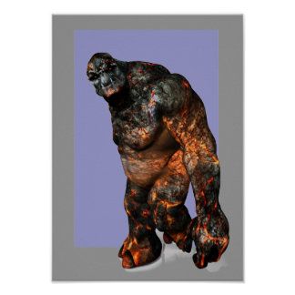 Lava Troll out for a stroll Poster