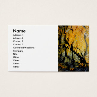 Lava tube cave business card