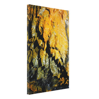 Lava tube cave canvas print