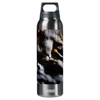 Lava tube cave detail 16 oz insulated SIGG thermos water bottle