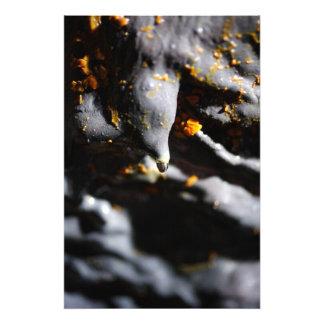 Lava tube cave detail art photo