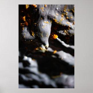 Lava tube cave detail poster
