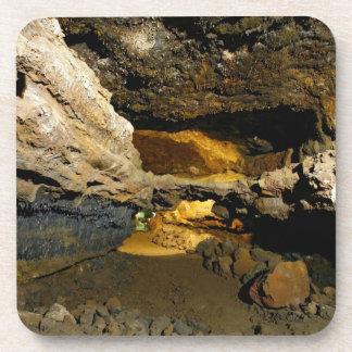Lava tube cave drink coaster